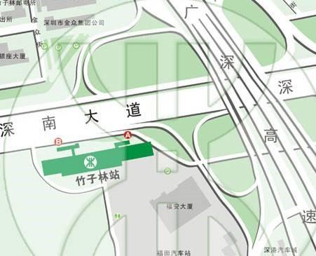深圳地鐵,深圳地鐵一號線,深圳地鐵羅寶線竹子林站出入口介紹,羅寶線出入口介紹,深圳地鐵一號線運營時刻表