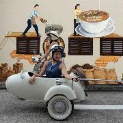新加坡遺產社區Vespa Sidecar邊車日遊